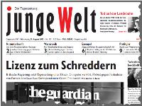 junge Welt, 21. August 2013